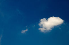 White clouds floating in the sky at daytime Stock Photo