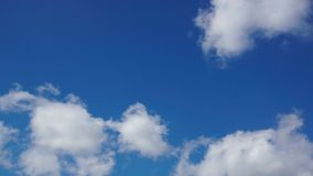White clouds stock footage