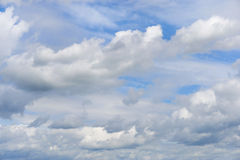 White clouds formations on the blue sky. Background Royalty Free Stock Photography