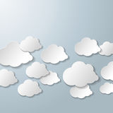 White Clouds Grey Background Royalty Free Stock Photography