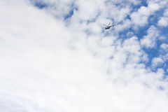 White clouds with helicopter Royalty Free Stock Image