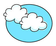 White clouds illustration Royalty Free Stock Photos