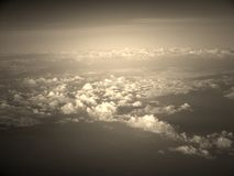 White Clouds in Infinite Sky captured from Air Royalty Free Stock Images