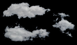 White clouds isolated on white background. Stock Photography