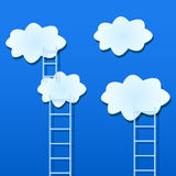 White Clouds with Ladders Royalty Free Stock Images