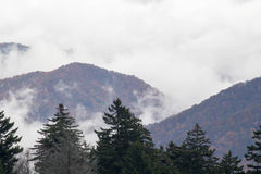 White Clouds on the Mountains Royalty Free Stock Photos