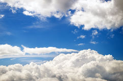 White clouds. Natural sky composition. Royalty Free Stock Photos