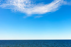 White clouds over Baltic sea. Stock Photography