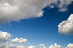 White clouds over blue sky. Stock Photography