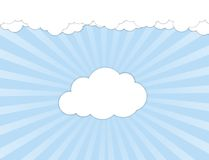White clouds over blue sky Royalty Free Stock Image