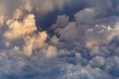 White clouds over blue sky royalty free stock photos