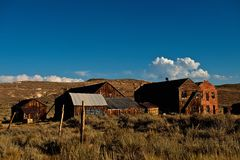White clouds over Bodie Stock Photos