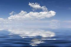 White clouds over the Mediterranean sea Stock Photo