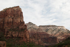 White clouds over mountains, Zion National Park, St. George, UT Stock Photography