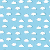 White clouds pattern Stock Image