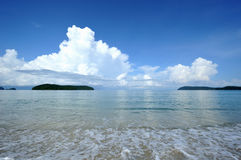 White clouds and sea Royalty Free Stock Photo