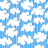 White clouds seamless. White clouds and blue sky vector seamless  background Royalty Free Stock Photo