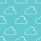 White clouds seamless pattern Royalty Free Stock Photography