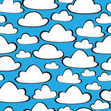 White clouds of seamless pattern Stock Photo