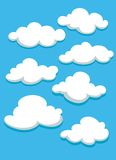 White clouds set on blue sky Royalty Free Stock Photo