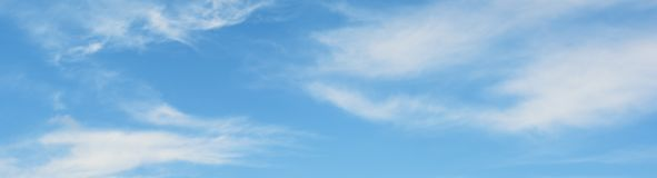 White clouds in sky Royalty Free Stock Photos