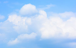 White clouds in the sky Stock Photo