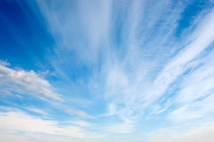 White clouds in the sky Royalty Free Stock Image