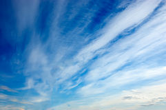 White clouds in the sky Royalty Free Stock Photo