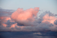 White clouds in sky Royalty Free Stock Image