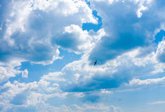 White clouds in sky Stock Photography