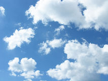 White clouds in the sky. White clouds on blue sky. Sky with clouds Stock Image