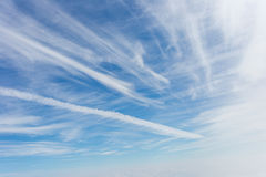 White clouds in sky. White clouds in blue sky Royalty Free Stock Photo