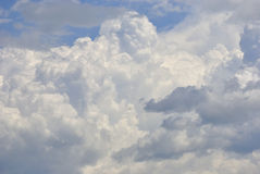 White clouds in the sky. White puffy clouds in the sky Royalty Free Stock Images