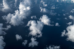 White clouds and sky, view from airplane Stock Photography