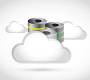 White clouds and storage illustration Royalty Free Stock Photography