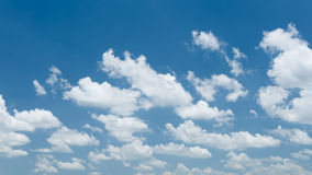 White clouds in summer Royalty Free Stock Image