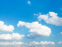 White clouds in summer blue sky afternoon Royalty Free Stock Image