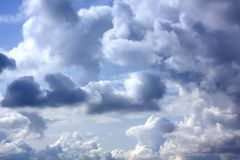 White clouds. Sunny day. Royalty Free Stock Images