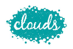 White clouds text background, vector illustration  eps 10 Royalty Free Stock Photo