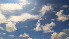 White clouds timelapse. Blue sky white clouds beautiful time lapse stock video footage