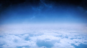 White clouds under blue sky Royalty Free Stock Images