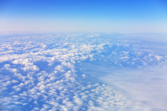 White clouds under blue sky. Like snow Stock Photo