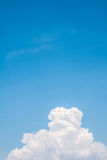 White clouds under blue sky. Royalty Free Stock Image
