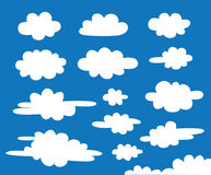 White clouds vector Royalty Free Stock Photo