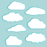 White clouds. Vector illustration of white clouds on blue sky Stock Images