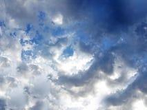 White cloudscape in blue sky. Scenic background of white cloudscape in blue sky Stock Photos