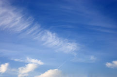 White cloudsinthe sky Royalty Free Stock Photos