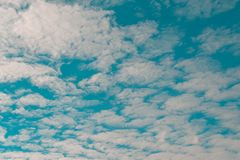 White cloudy and blue sky stock photography