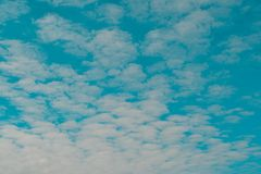 White cloudy and blue sky royalty free stock image