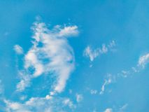 White cloulds on blue sky in the day beautiful royalty free stock images